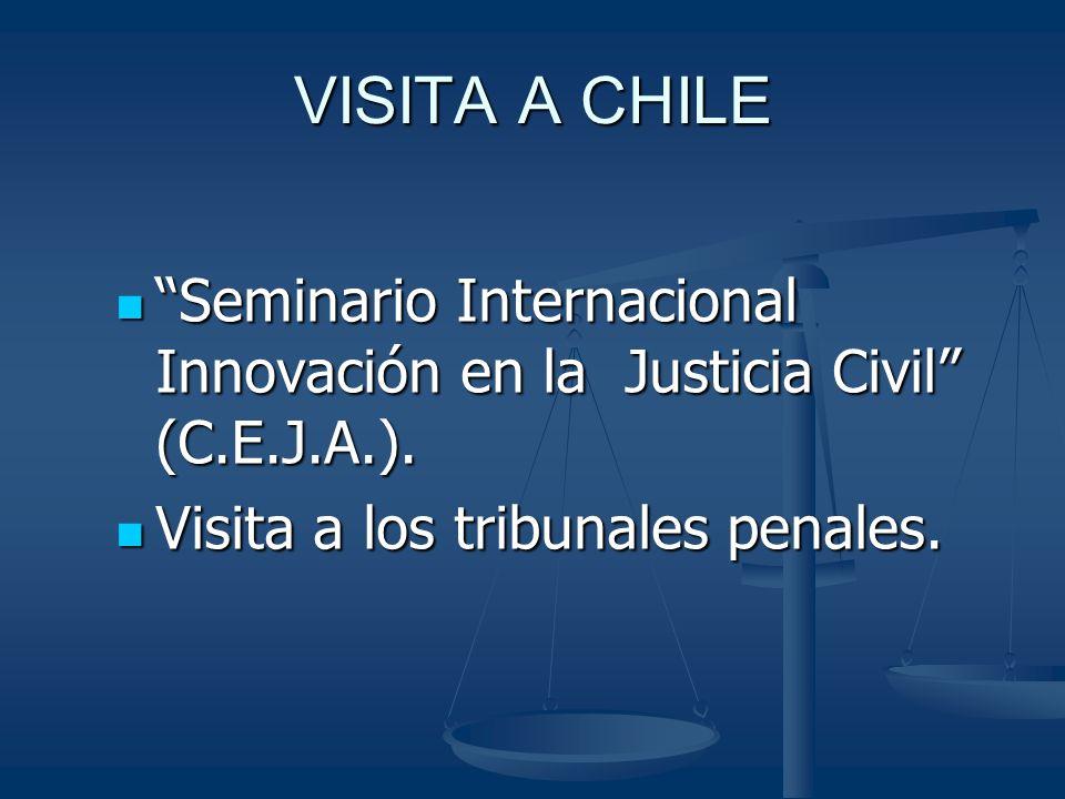 VISITA A CHILE Seminario Internacional Innovación en la Justicia Civil (C.E.J.A.).