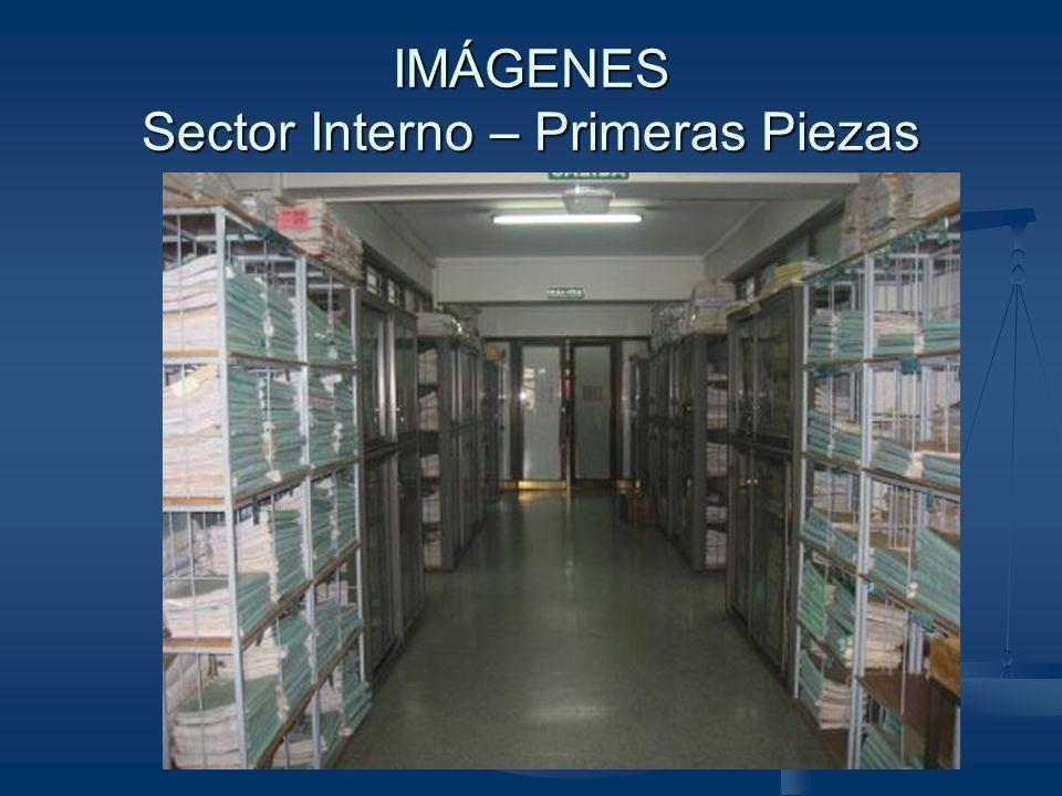 IMÁGENES Sector Interno – Primeras Piezas