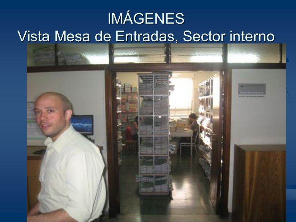 IMÁGENES Vista Mesa de Entradas, Sector interno