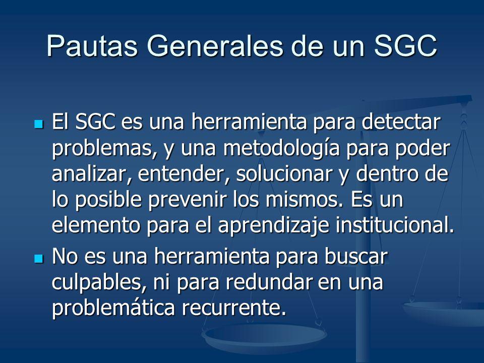 Pautas Generales de un SGC