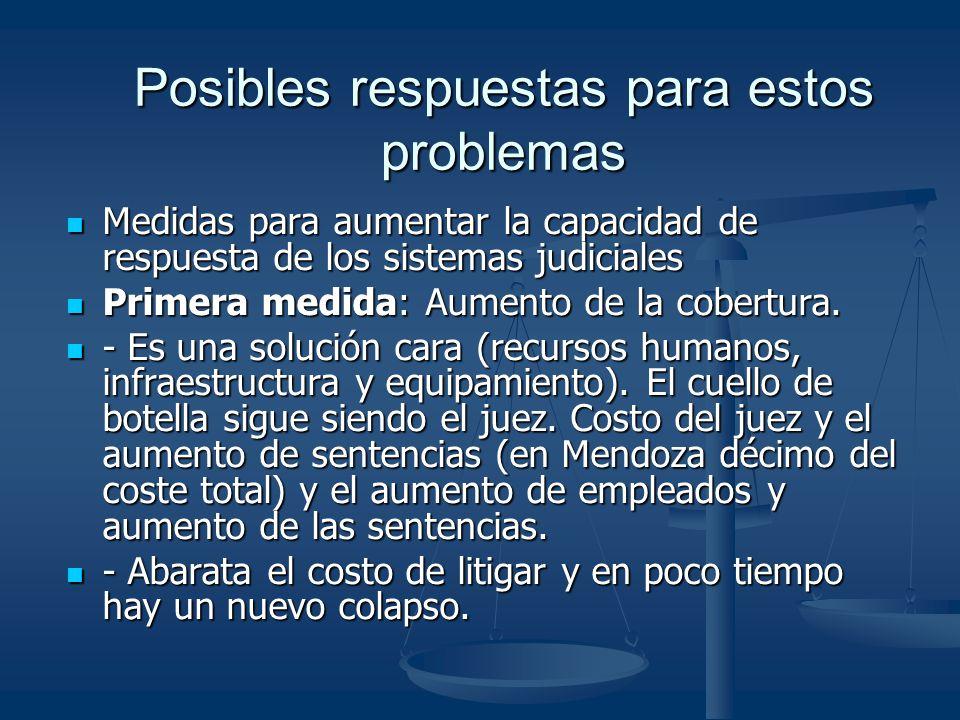 Posibles respuestas para estos problemas