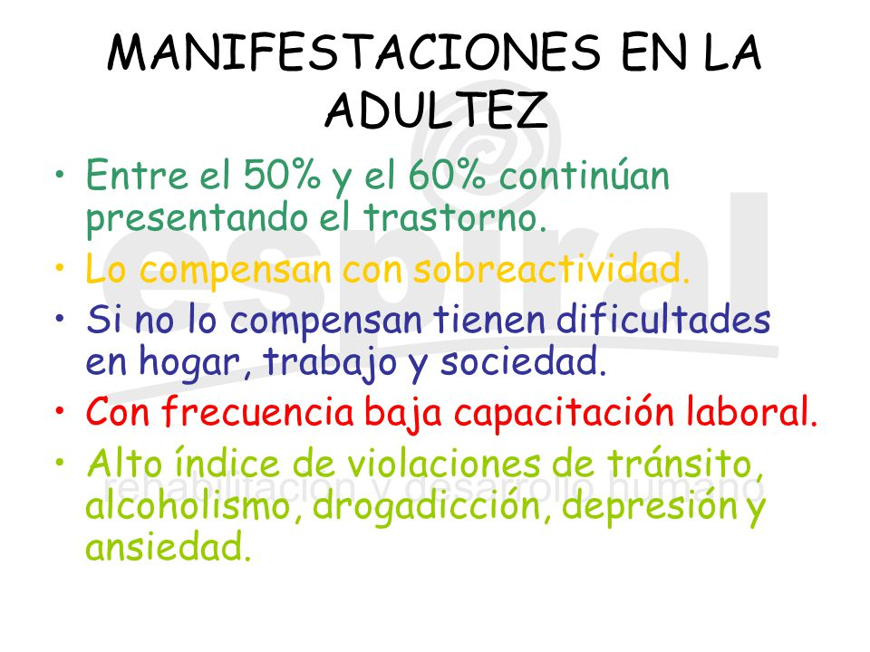 MANIFESTACIONES EN LA ADULTEZ