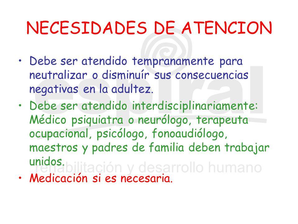NECESIDADES DE ATENCION