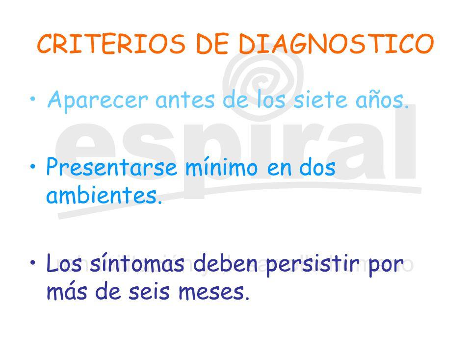CRITERIOS DE DIAGNOSTICO
