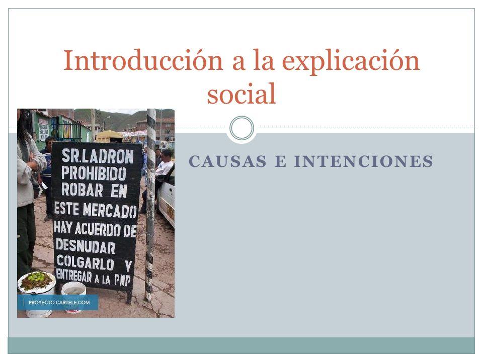 Introducción a la explicación social