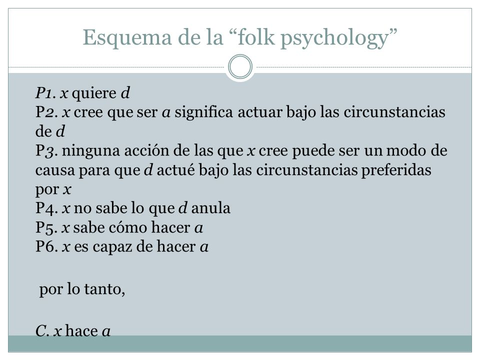 Esquema de la folk psychology