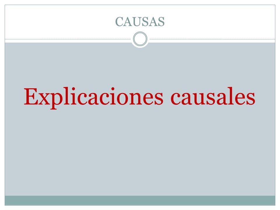 Explicaciones causales