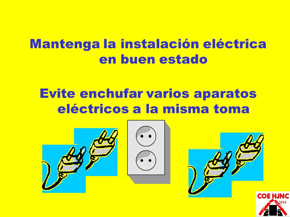 Mantenga la instalación eléctrica en buen estado