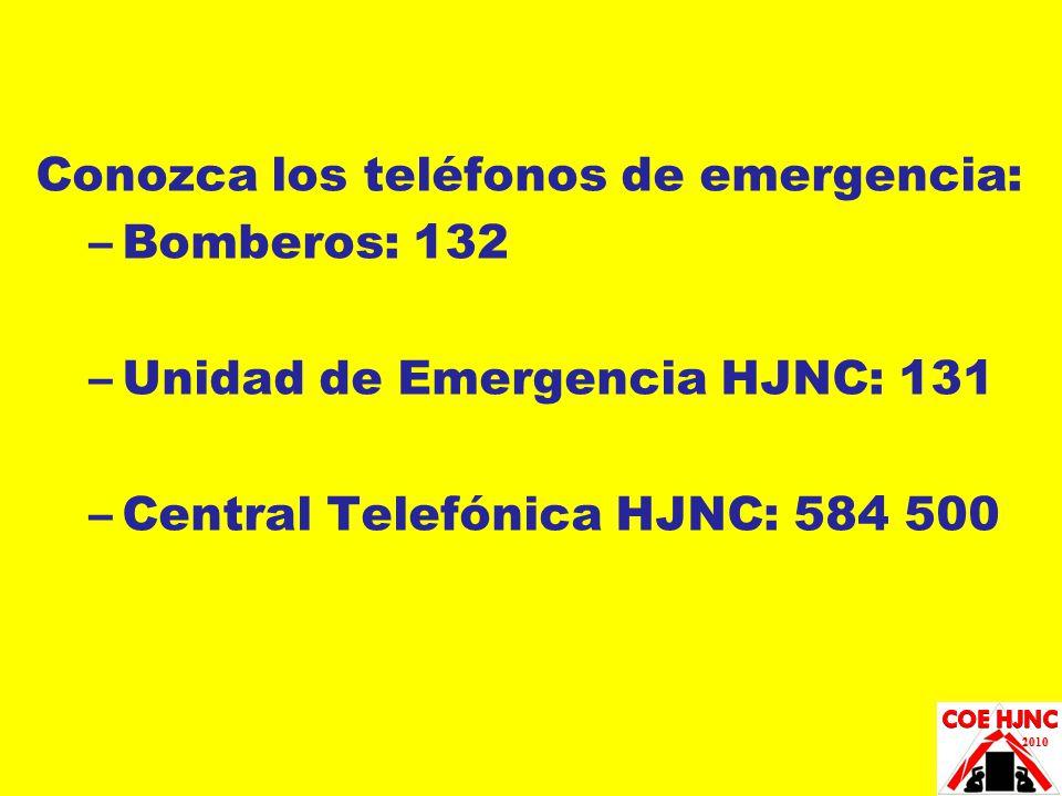 Conozca los teléfonos de emergencia: Bomberos: 132