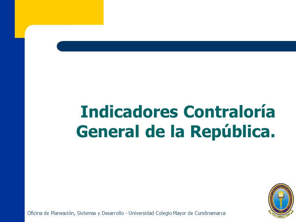 Indicadores Contraloría General de la República.