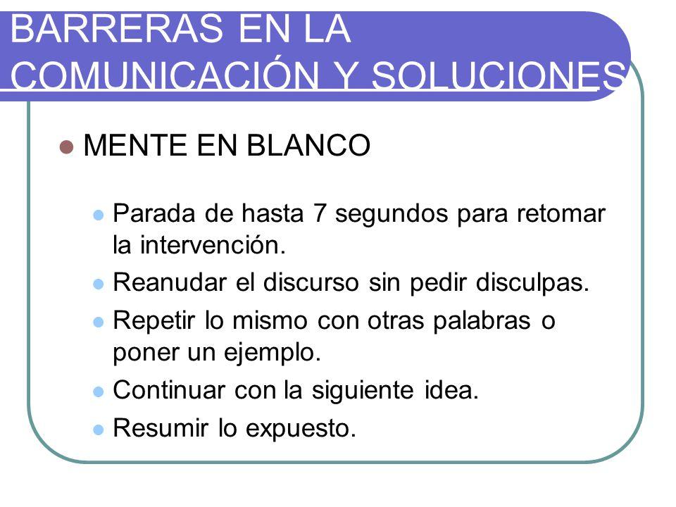 BARRERAS EN LA COMUNICACIÓN Y SOLUCIONES