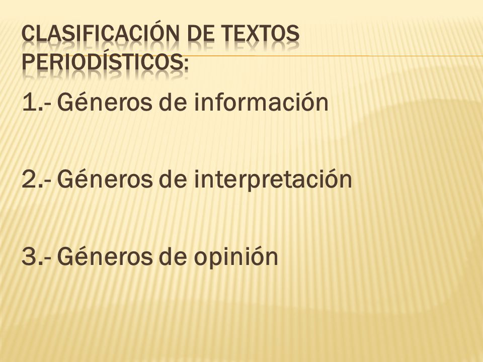 Clasificación de textos periodísticos: