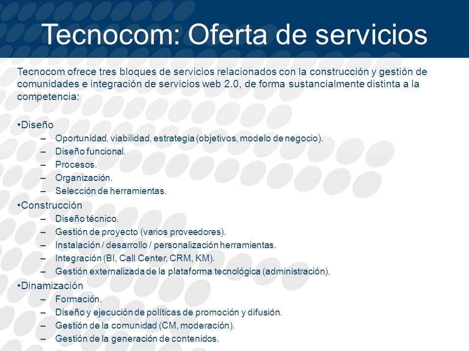 Tecnocom: Oferta de servicios