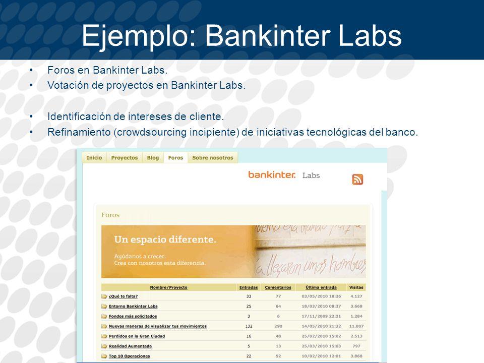 Ejemplo: Bankinter Labs