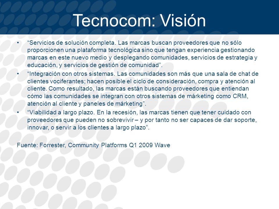 Tecnocom: Visión