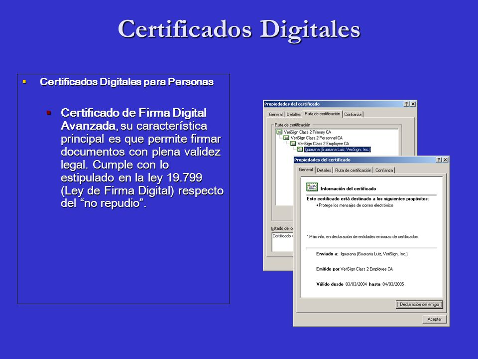 Certificados Digitales