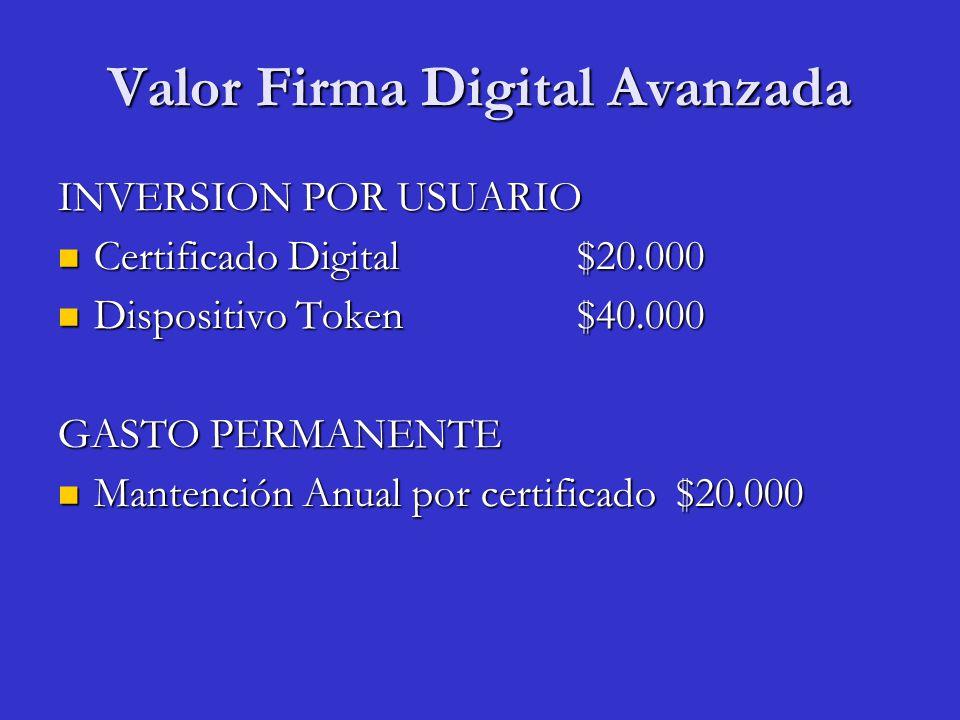 Valor Firma Digital Avanzada