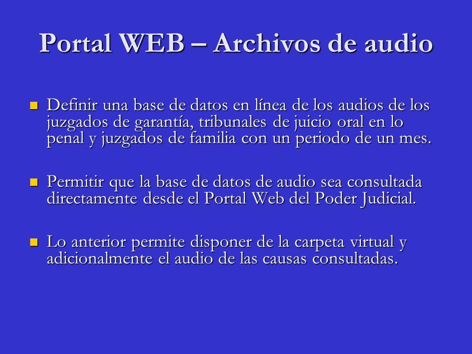 Portal WEB – Archivos de audio