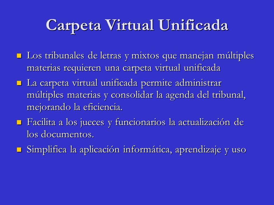 Carpeta Virtual Unificada