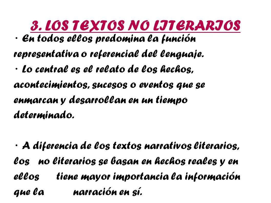 3. LOS TEXTOS NO LITERARIOS