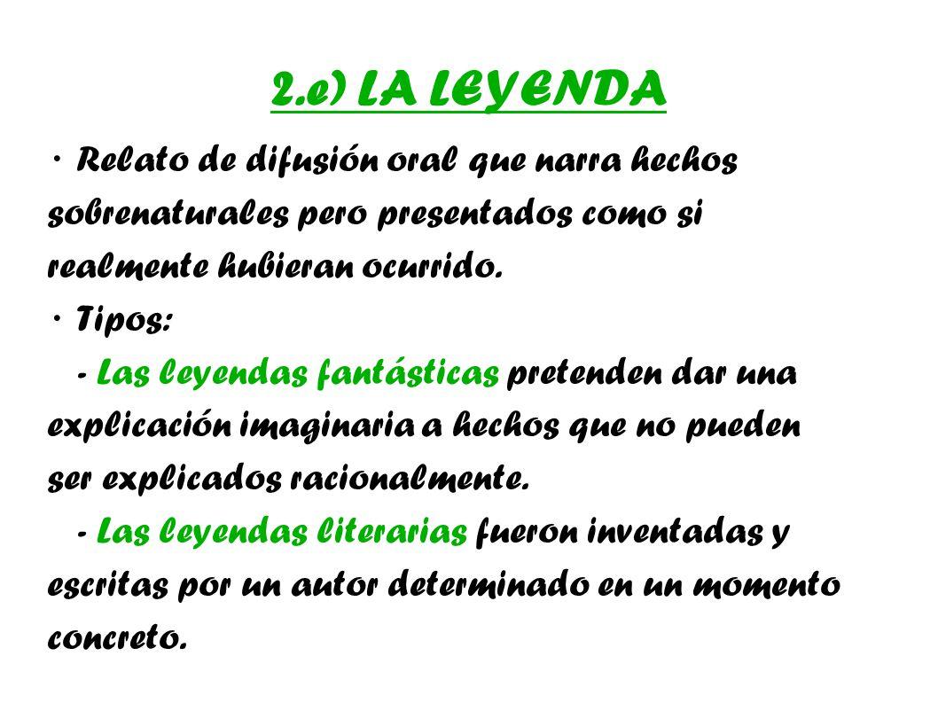 2.e) LA LEYENDA