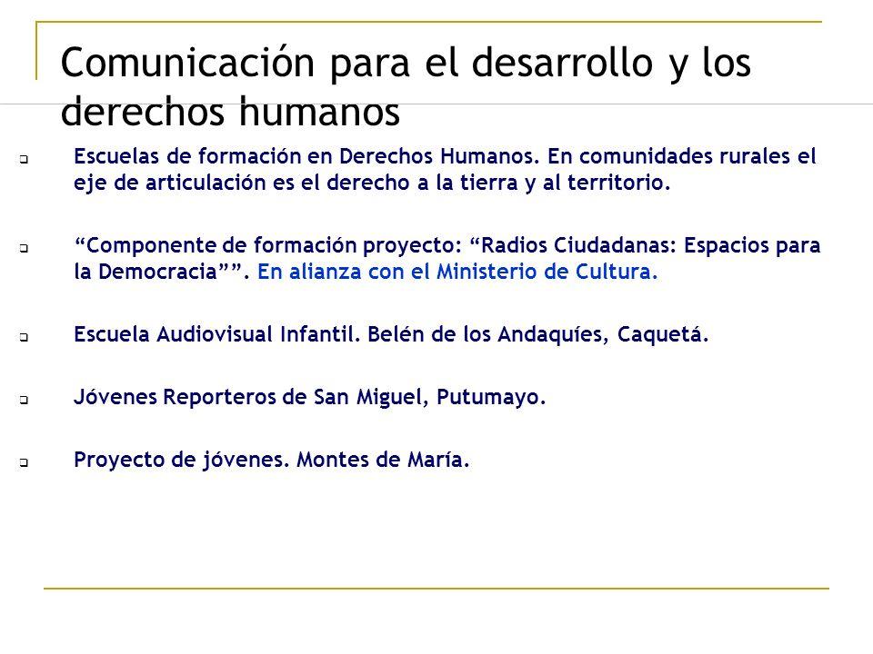 Comunicación para el desarrollo y los derechos humanos