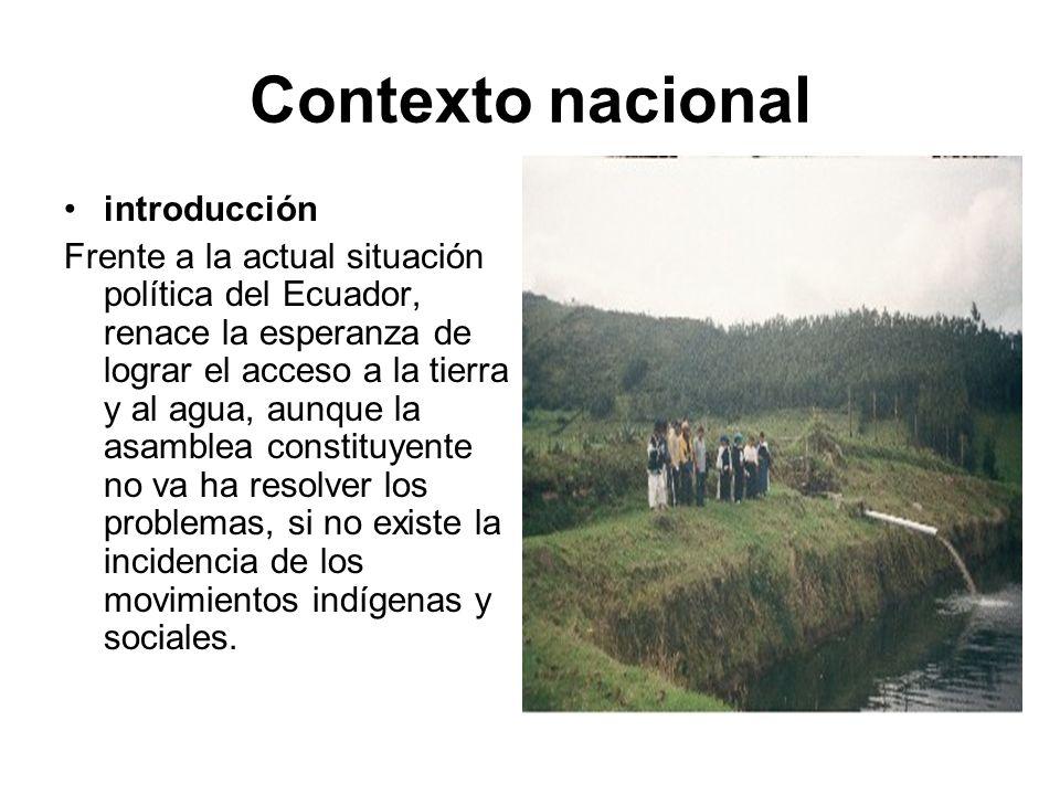 Contexto nacional introducción