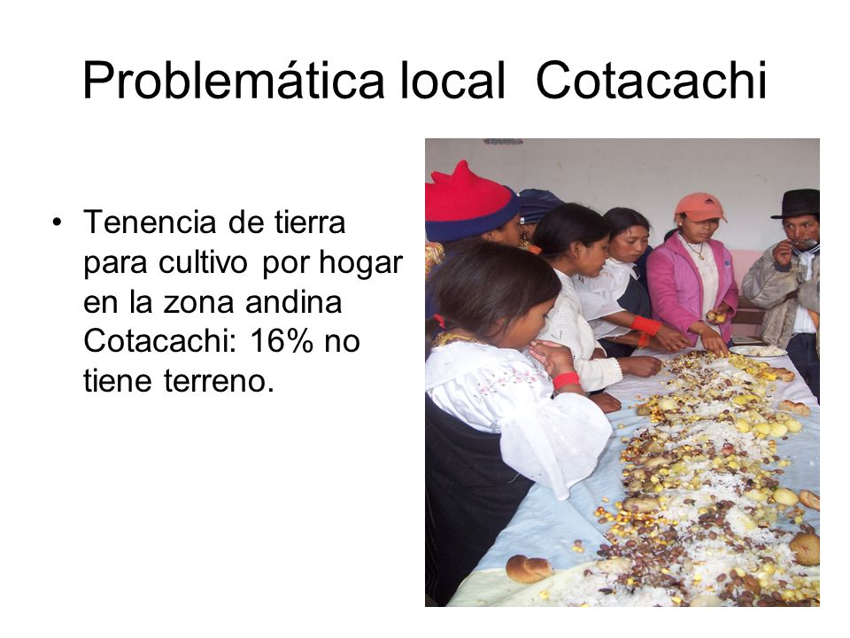 Problemática local Cotacachi