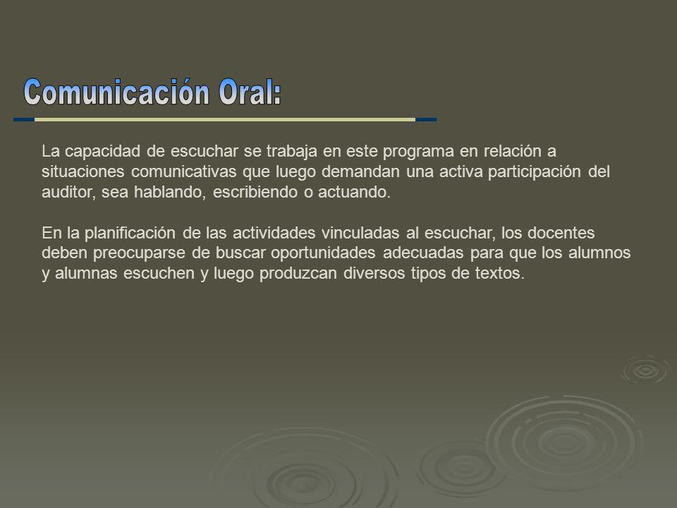 Comunicación Oral: