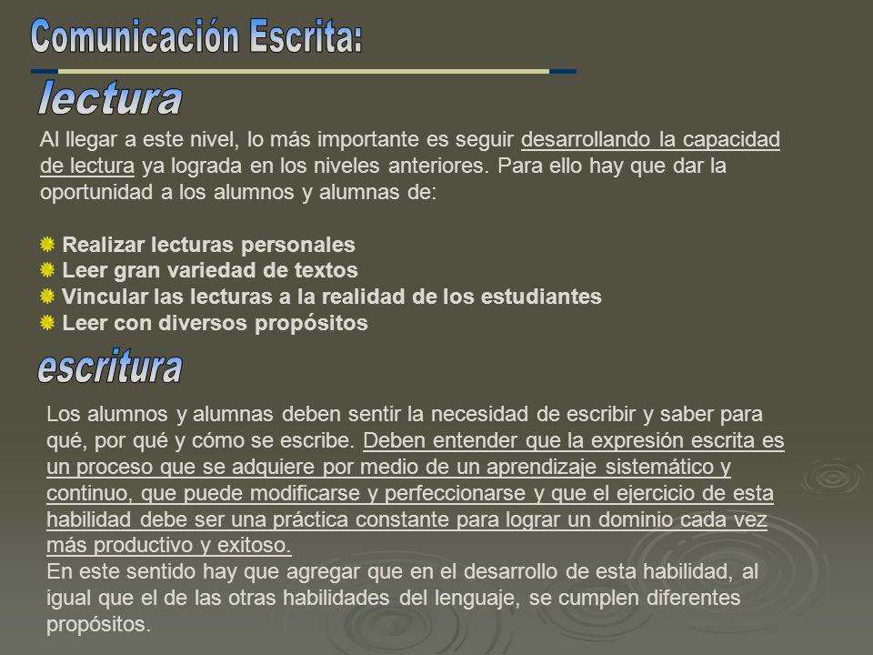 Comunicación Escrita:
