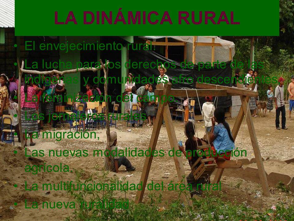 LA DINÁMICA RURAL El envejecimiento rural.