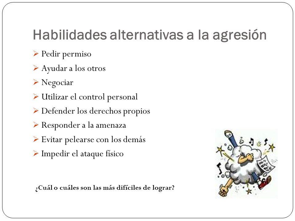 Habilidades alternativas a la agresión