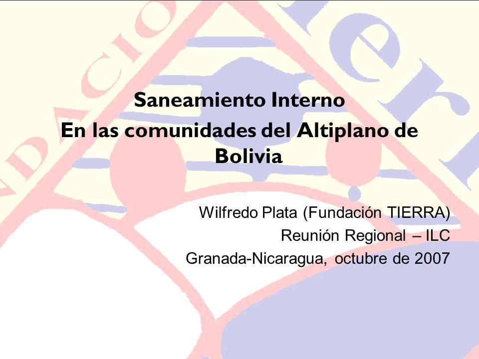 En las comunidades del Altiplano de Bolivia
