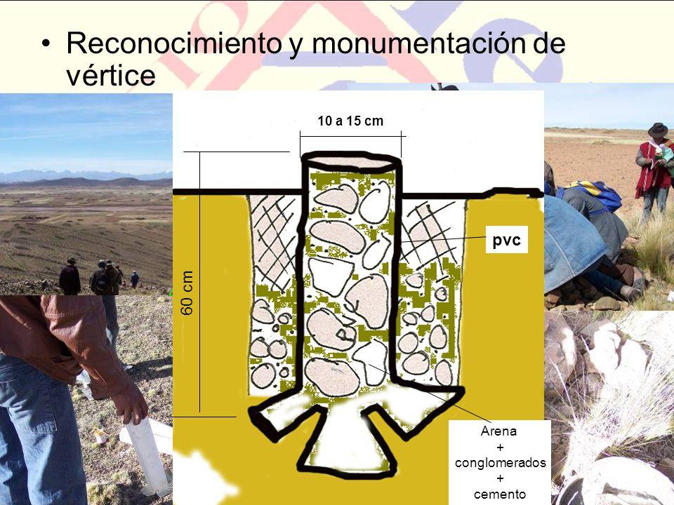Reconocimiento y monumentación de vértice