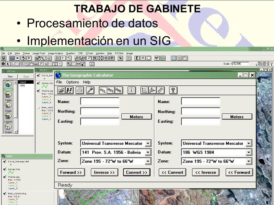 Procesamiento de datos Implementación en un SIG