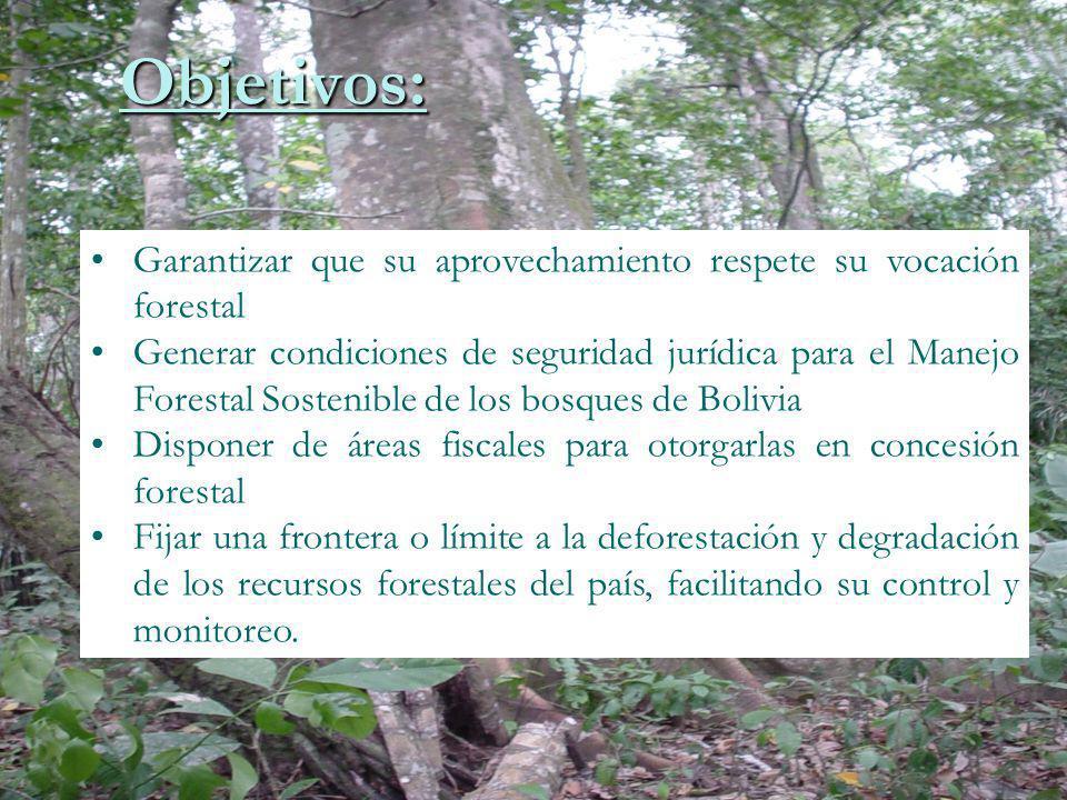 Objetivos: Garantizar que su aprovechamiento respete su vocación forestal.