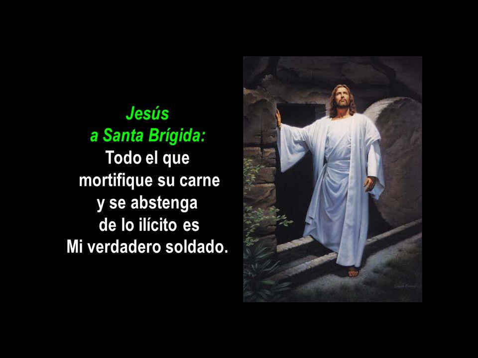 Jesús a Santa Brígida: Todo el que mortifique su carne y se abstenga de lo ilícito es Mi verdadero soldado.