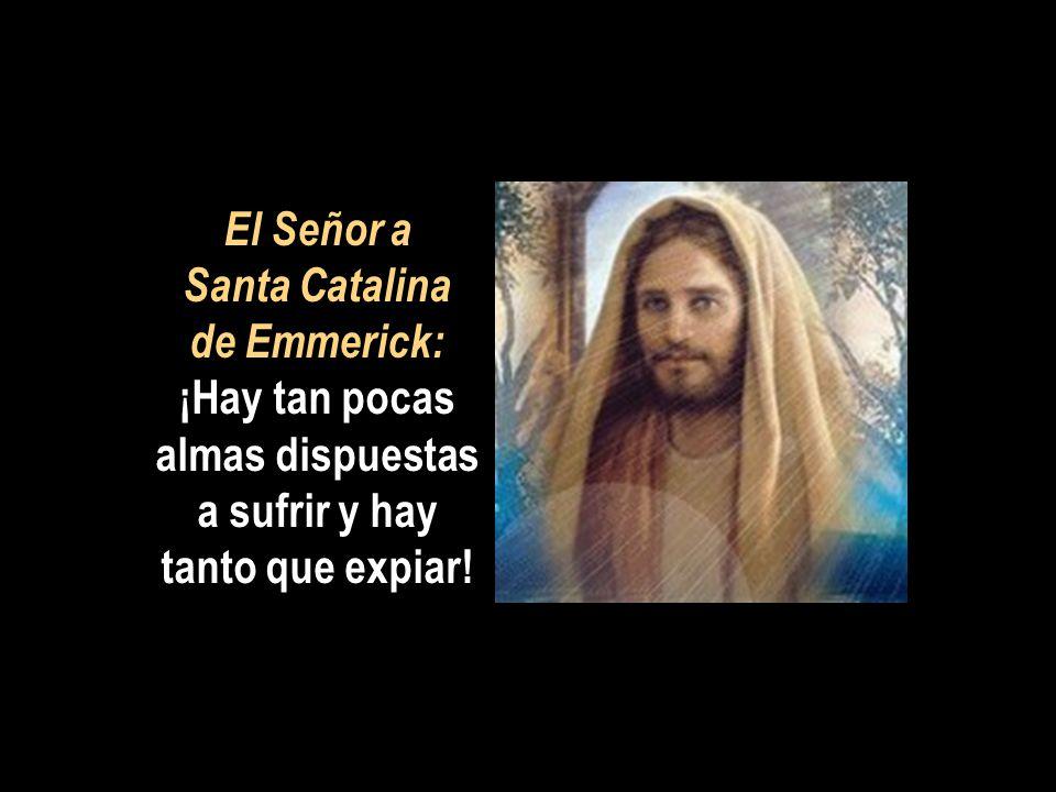 El Señor a Santa Catalina de Emmerick: ¡Hay tan pocas almas dispuestas a sufrir y hay tanto que expiar!