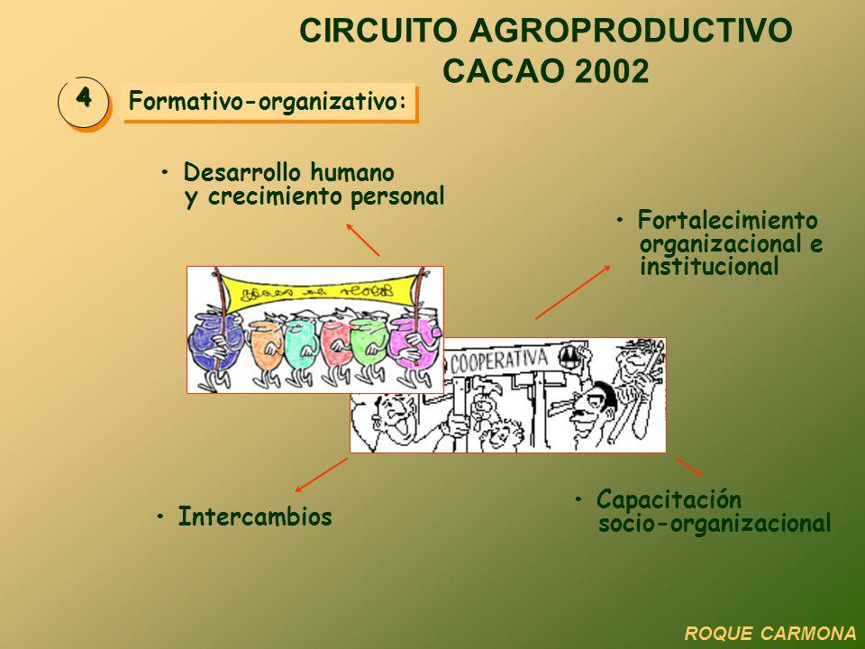 CIRCUITO AGROPRODUCTIVO CACAO 2002 Formativo-organizativo: