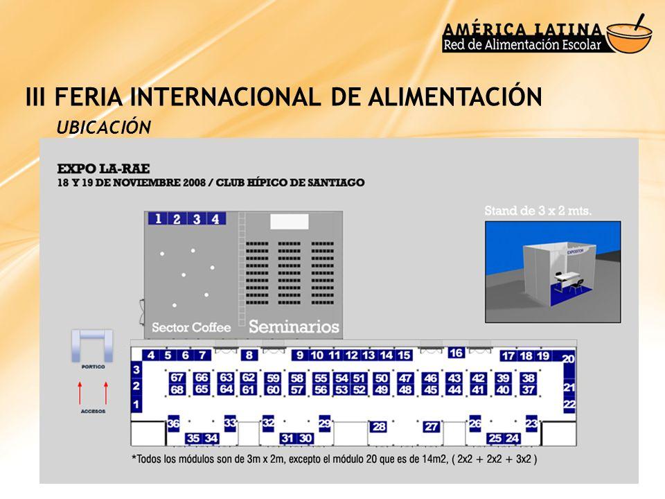 III FERIA INTERNACIONAL DE ALIMENTACIÓN
