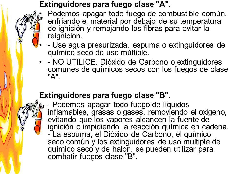 Extinguidores para fuego clase A .