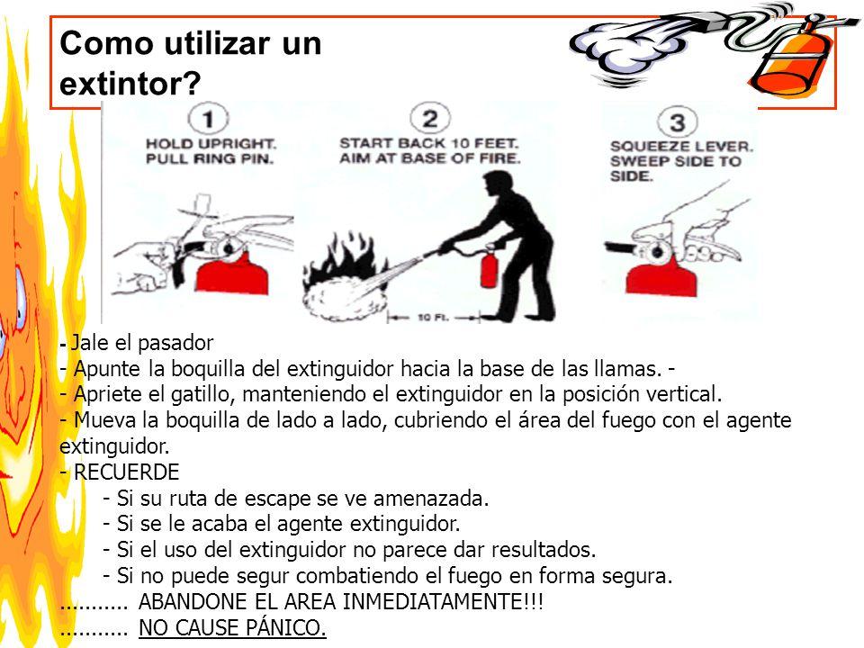 Como utilizar un extintor