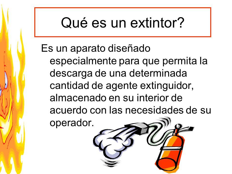Qué es un extintor