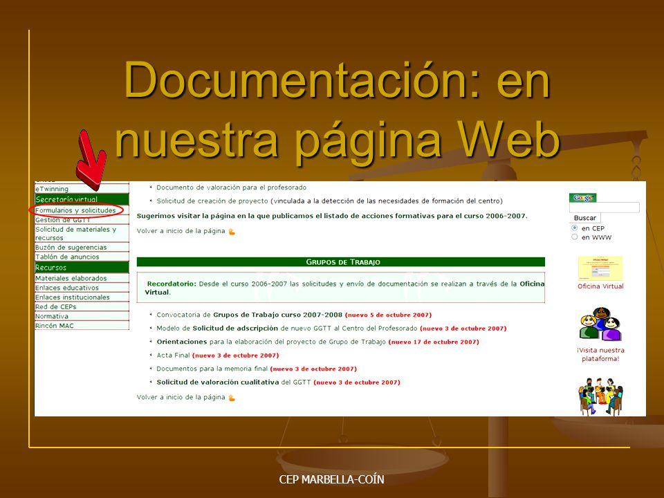 Documentación: en nuestra página Web