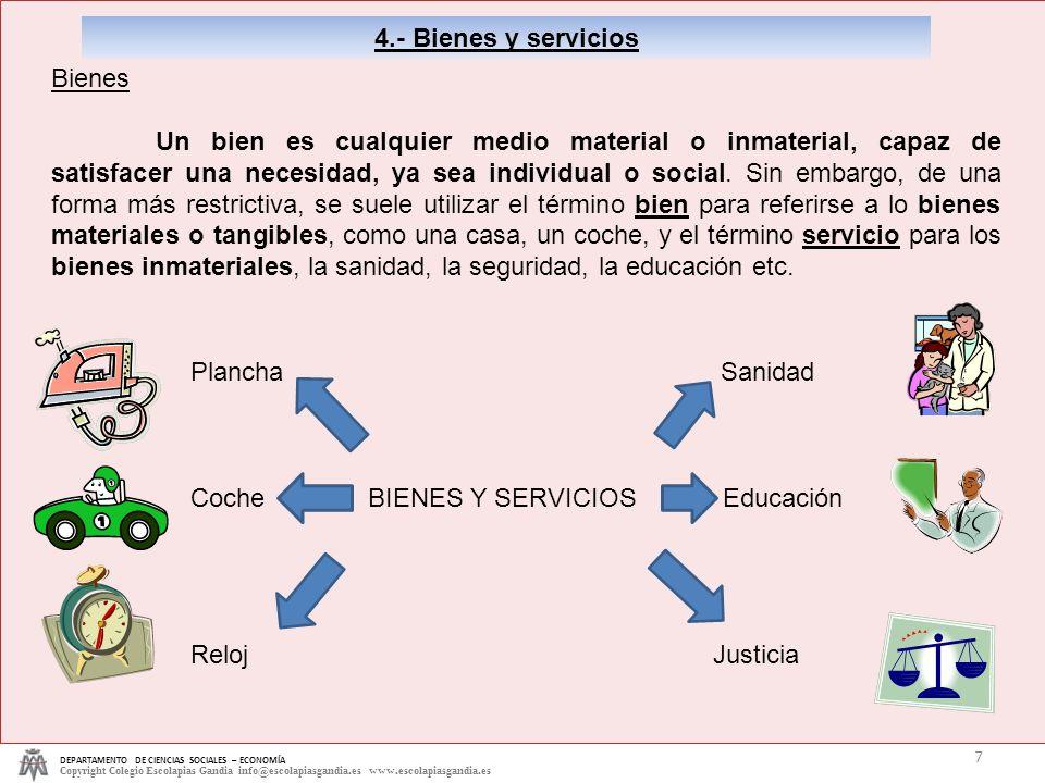 Coche BIENES Y SERVICIOS Educación