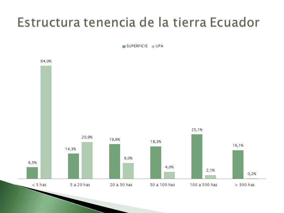 Estructura tenencia de la tierra Ecuador