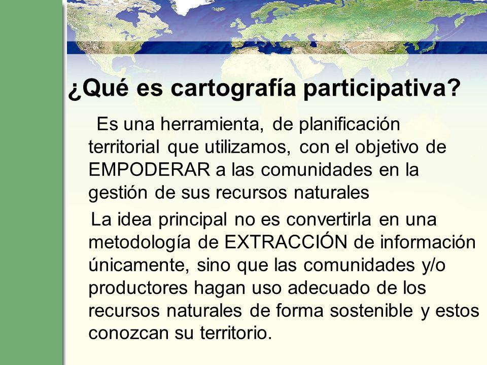 ¿Qué es cartografía participativa