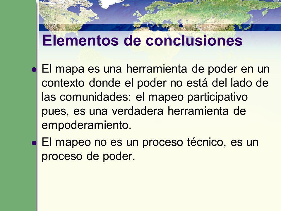 Elementos de conclusiones