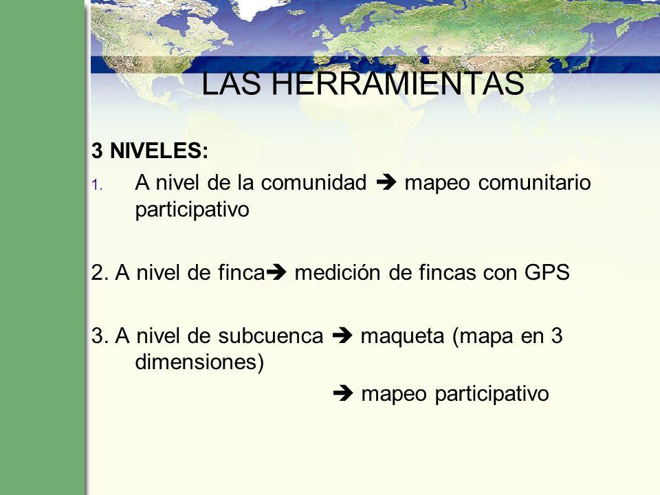 LAS HERRAMIENTAS 3 NIVELES: