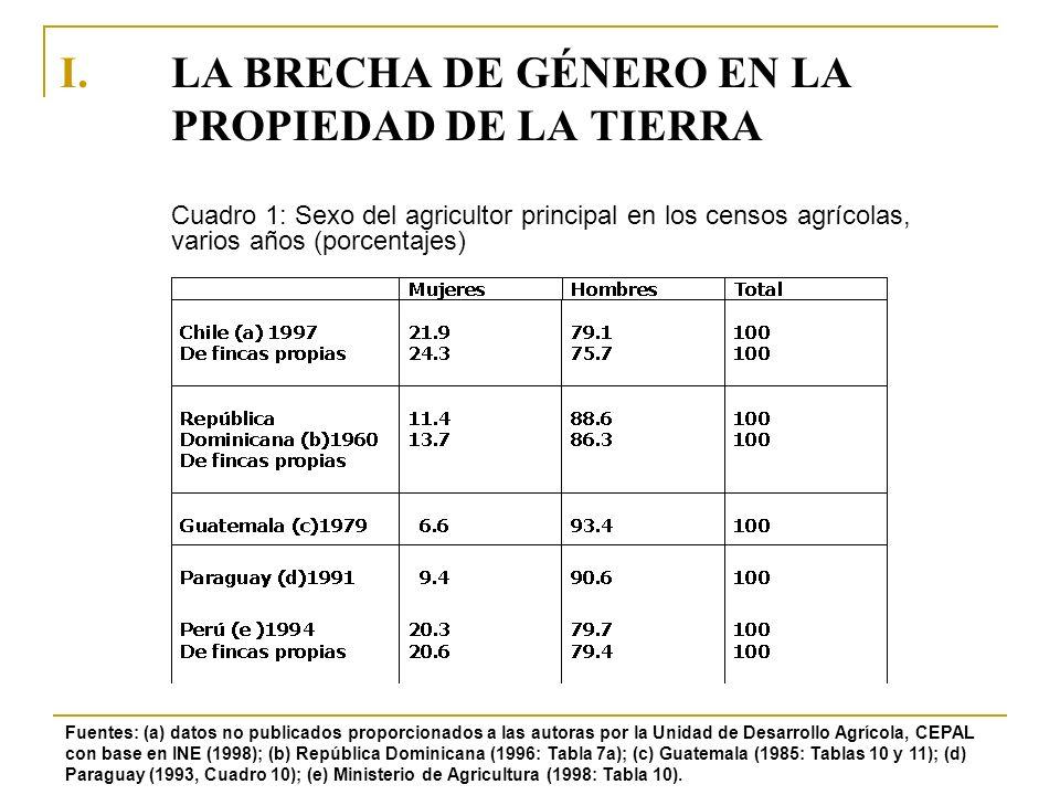 LA BRECHA DE GÉNERO EN LA PROPIEDAD DE LA TIERRA